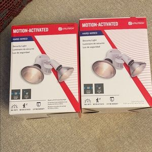 Set of 2 NIB motion activated security lights